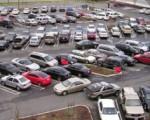 Парковка автомобиля. Диагональная парковка (косая парковка). Инфографика.